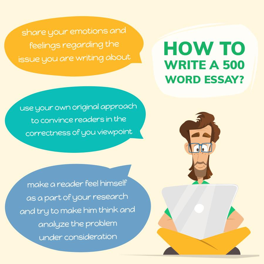 write a 500 word essay essay